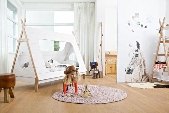 Wood, kids furniture with Scandinavian vibe