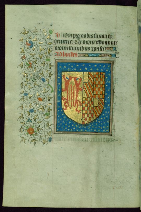 Book of Hours, Coat of arms, Walters Manuscript W.267, fol. 37v by Walters Art Museum Illuminated Manuscripts http://flic.kr/p/DxryTA