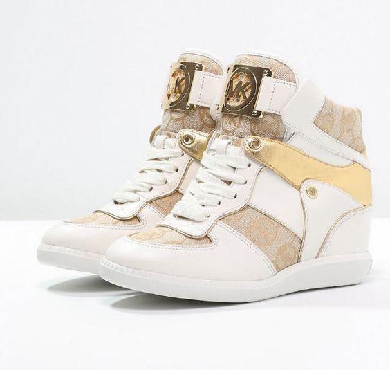 MICHAEL Michael Kors NIKKO Baskets montantes beige/camel/gold prix Baskets Femme Zalando 195,00 €