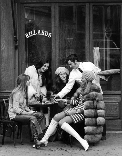 En la lente del fotógrafo Pierre Boulat, en el París de (1968).