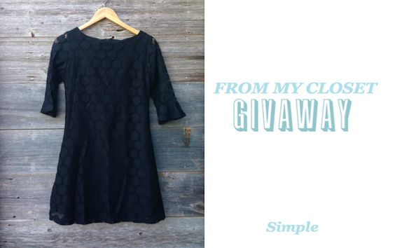From My Closet Giveaway: Simple