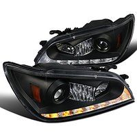Cheap Lexus IS300 Black Projector Headlights LED DRL Amber LED Signal Lamps sale