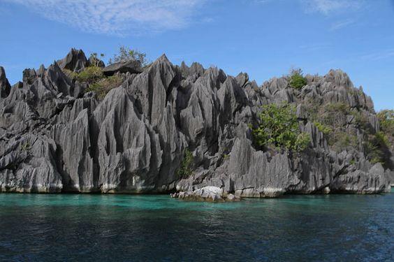 Amazing limestone karsts #Coron Island