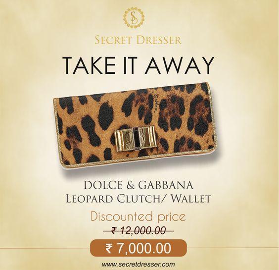 Get this Dolce and Gabbana Clutch at Discounted Rates, only at Secret Dresser!  #Dolceandgabbana #bags #clutches #wallet #secretdresser #shopSD #SD #Baglove #lovebags #ilovebags #shoponline #onlineshopping #delhi #delhincr #instagramlogo #OOTD