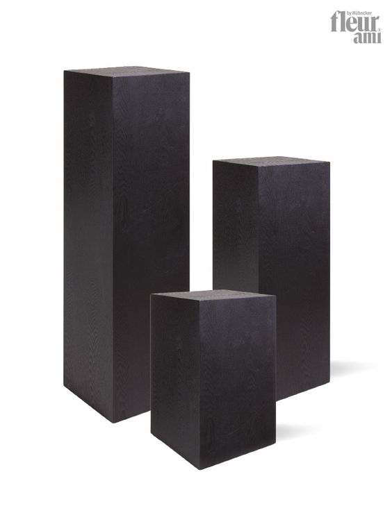 Penthouse pedestal by fleur ami made of mdf with black for Mdf square columns