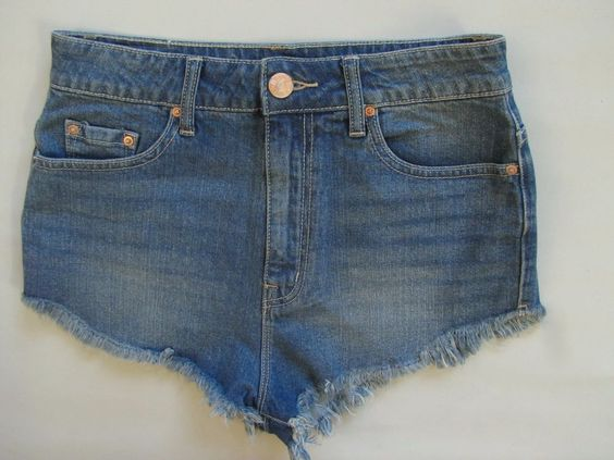 "BDG Super High Rise Dolphin denim Shorts 28 Destroyed Cutoff Festival stretch 2"" #BDG #Denim"