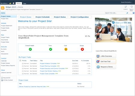 Free sharepoint 2010 project management template now for Sharepoint 2013 site templates free