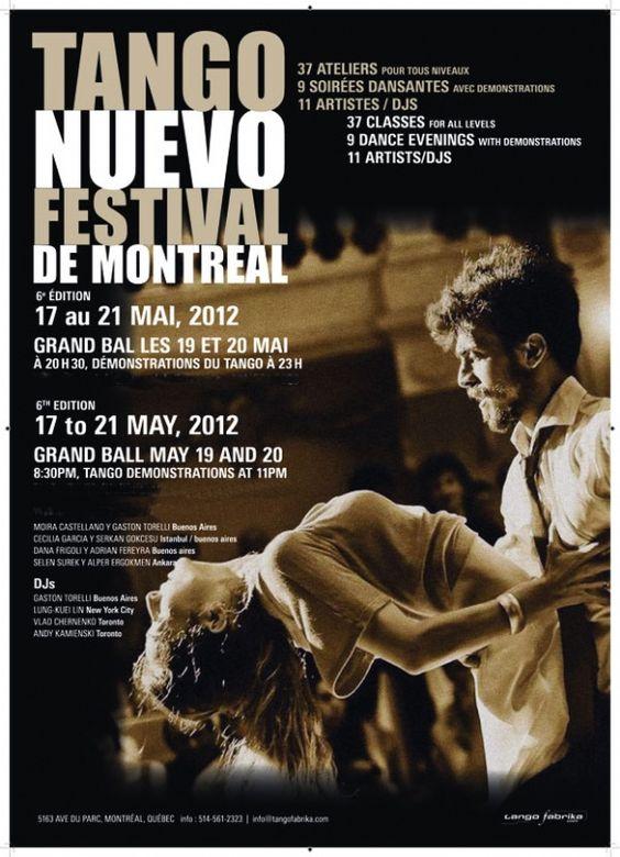 Festival de Tango Nuevo 2012  de Montréal