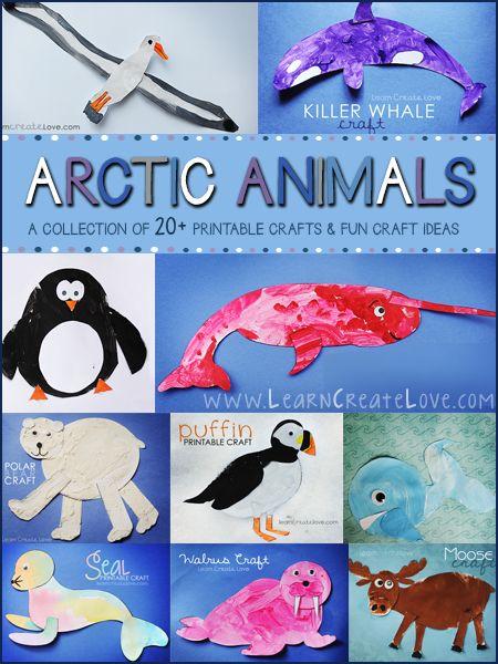 January: Snow/Arctic - Arctic Animal printable crafts
