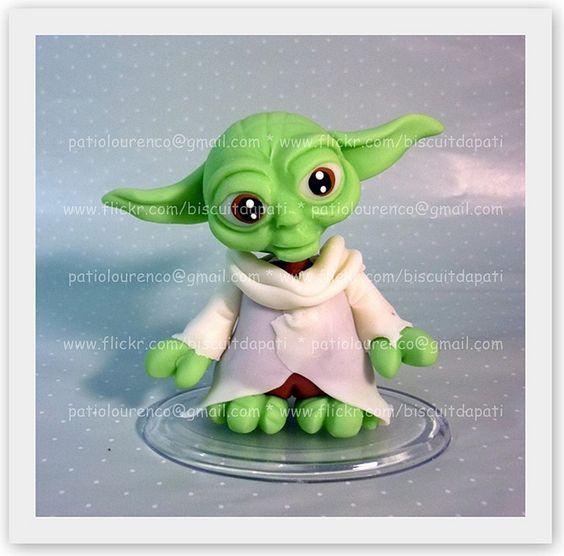 Yoda en porcelana fria