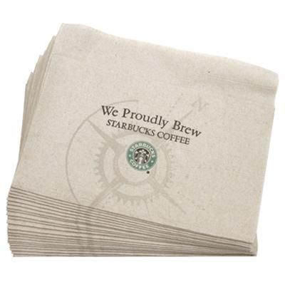 Of course I have these wadded up in the side pocket of my handbag since I'm a Starbuck's fanatic. Turns out people say they're great blotting papers too! X-D I love a multi-use product!