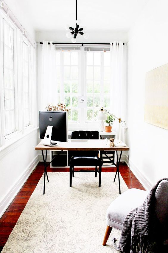small sunny home office