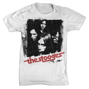 Iggy and the stooges group shot on white t shirts for Iggy pop t shirt amazon