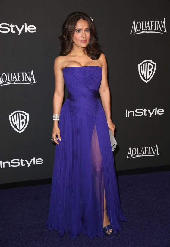 Salma should've worn this on the red carpet instead!  2015 Golden Globe Awards afterparties
