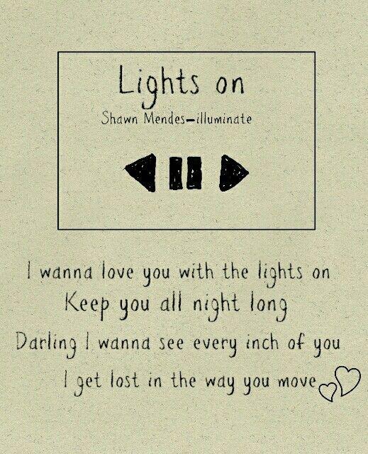 Illuminate: Lights on - Shawn Mendes lyrics ...