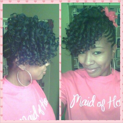 Flexi rod/ braided on one side | natural hair styles/beautiful styles