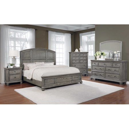 Lake Town Gray 5 Pc Queen Panel Bedroom With Storage King