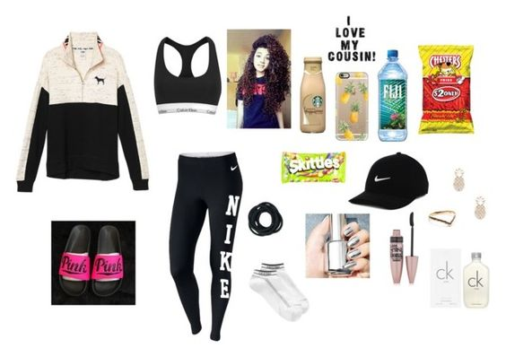 """""""Inspired by @amari-nyelle"""" by ahriraine ❤ liked on Polyvore featuring NIKE, Casetify, River Island, Victoria's Secret, Calvin Klein, Sole Society, Puck Wanderlust and Maybelline"""