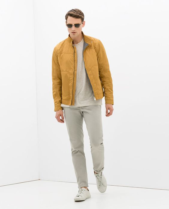 ZARA - MAN - JACKET WITH QUILTED SHOULDER