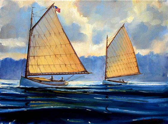 Perhaps my favourite sailing vessel of all time ... the Classic Catboat!
