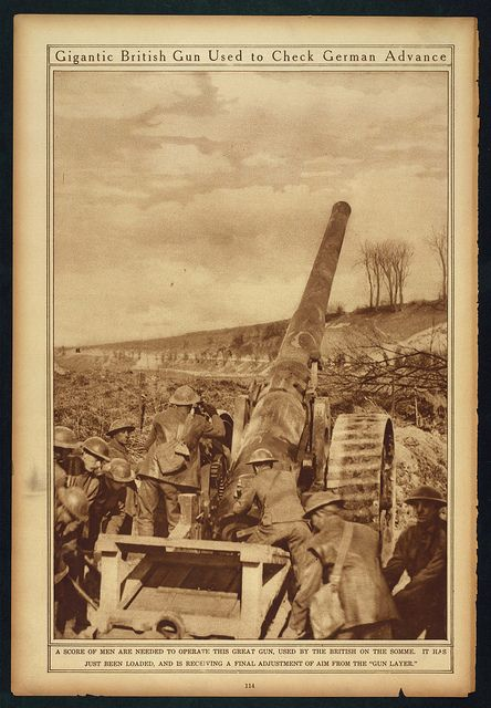 Gigantic British Gun Used to Check German Advance (LOC)   Flickr - Photo Sharing!