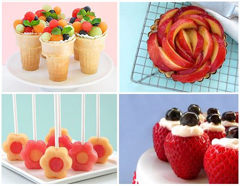 really pretty and cute ideas for serving fruit