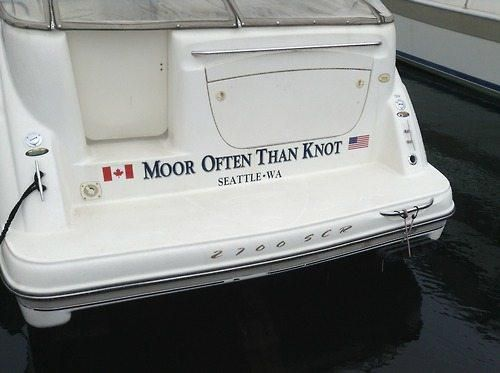 Funny Boat Names - Moor Often Than Knot