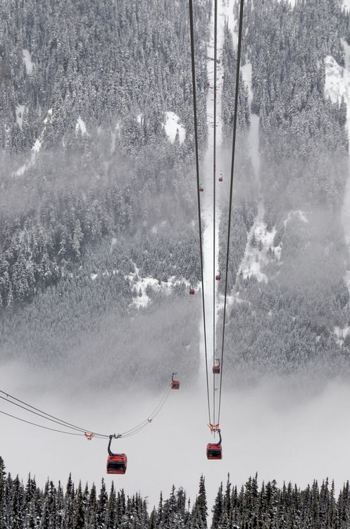 gondola rides January 2015 Not much snow, but Whistler is great!