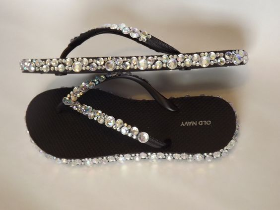flip flops with rhinestones and bling   Size: Select a size US 6 - Women US 7 - Women US 8 - Women US 9 ...