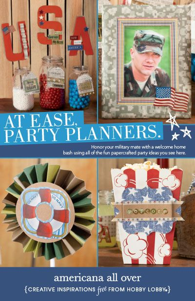Plan a welcome home bash for your family member or friend for Military welcome home party decorations