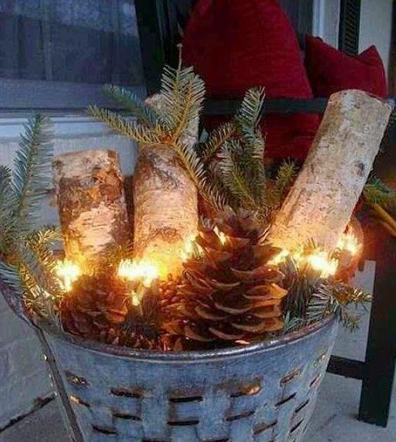 dream gardens: Vianočné dekorácie v záhrade