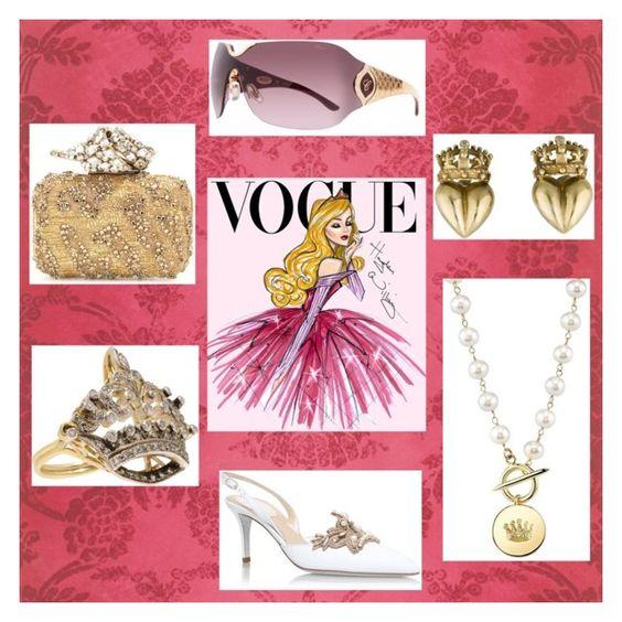 """Vogue Princess"" by polkadottielove on Polyvore featuring Disney, René Caovilla, Turner & Tatler, Chopard and Jimmy Choo"