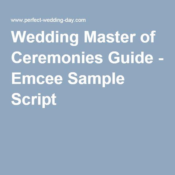 Wedding Officiant Speech Ideas: Wedding Master Of Ceremonies Guide