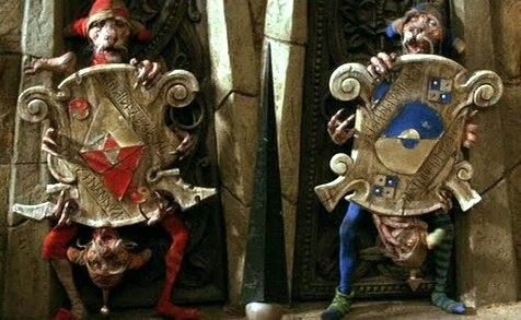 The Labyrinth Door Guard's. How funny are those two?
