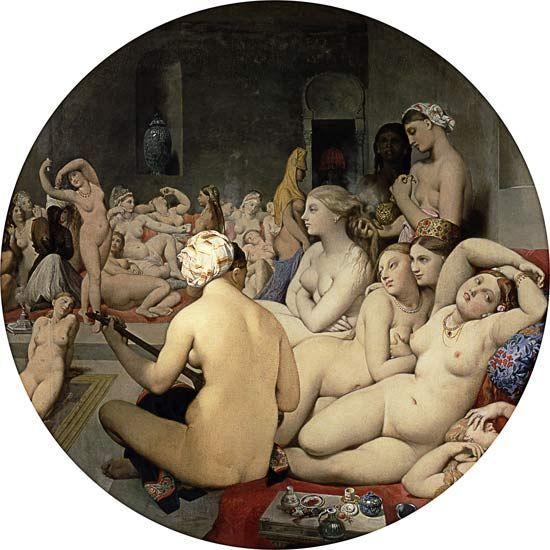 Titulo de la imágen Dominique Ingres - El Baño Turco (Tondo)
