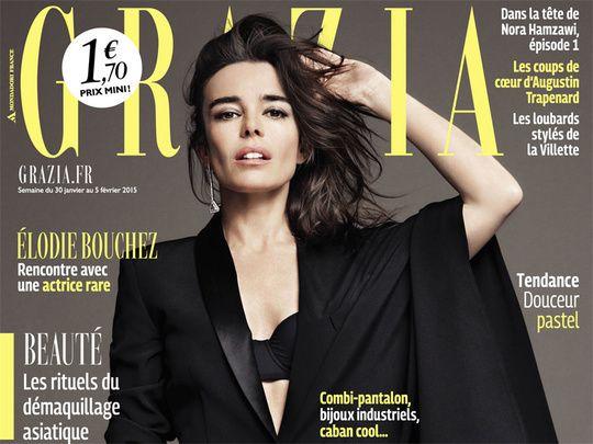 """Elodie Bouchez en couverture de Grazia : """"Je rêve de jouer une femme qui aurait mon âge et mon corps"""""""