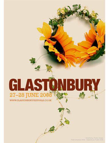 Glastonbury poster 2008 by Ali Marsh, via Flickr
