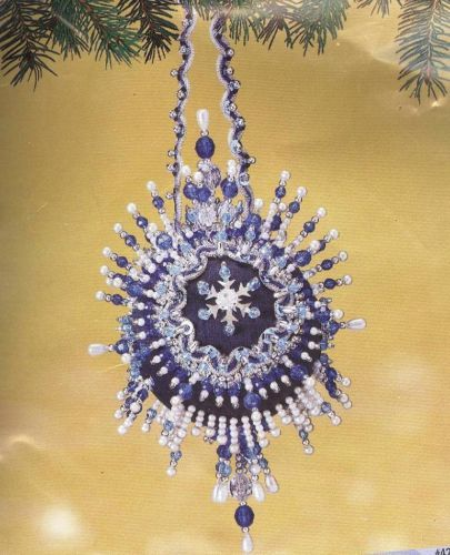 Herrschners MIDNIGHT STAR Beaded Sequin Ornament Kit Collector Series #42 ~ NEW