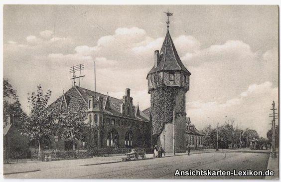 Straßenansicht mit Döhrener Turm, 1917