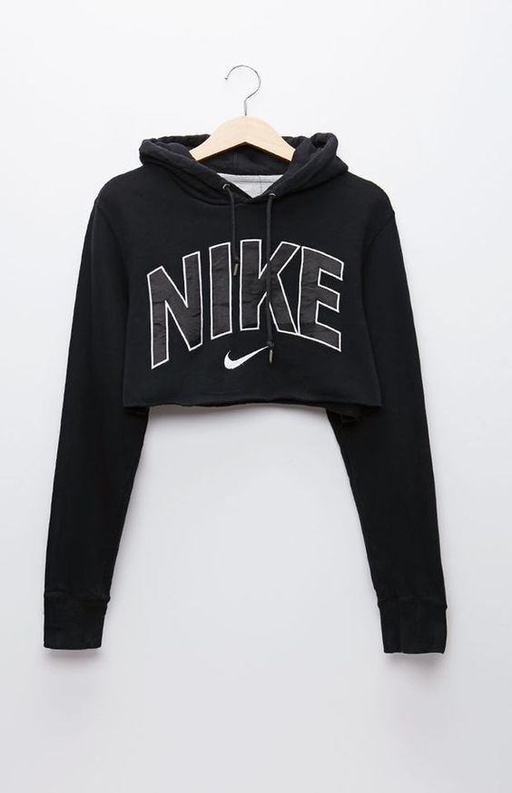 Retro Gold Nike Black Pullover Hoodie - Womens Hoodie - Black ...
