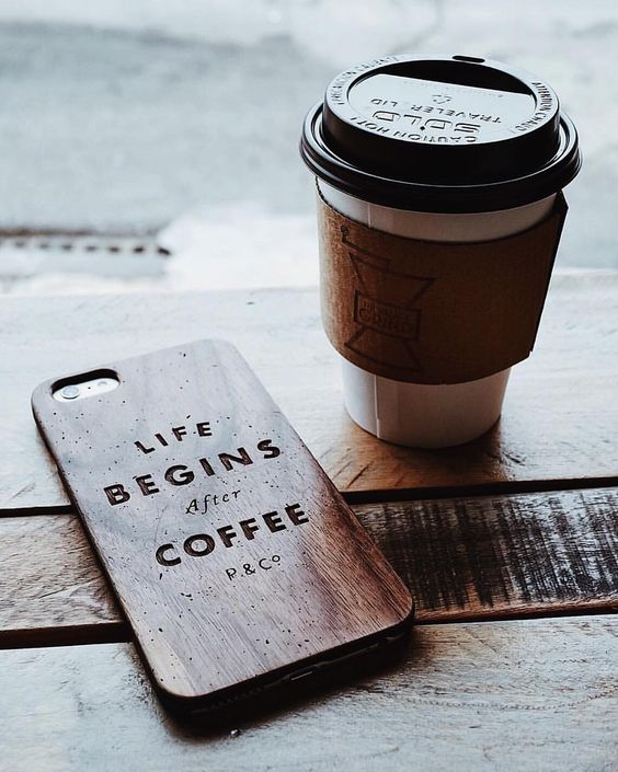 Life begins with coffee. Ana Rosa