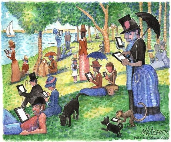 Parody of Sunday Afternoon on the Island of La Grande Jatte - Georges Seurat, 1884: