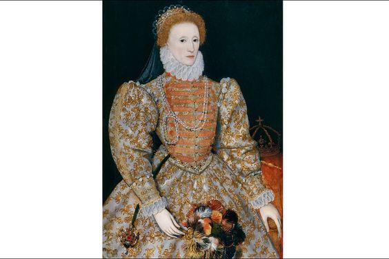 Portrait de la reine Elizabeth Ire par un artiste des Pays-Bas, dit The Darnley Portrait, vers 1575, National Portrait Gallery Londres