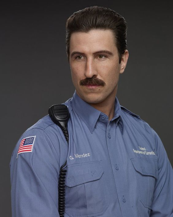 "Pin for Later: The Cast of Orange Is the New Black Looks Way Different in Other Roles Pablo Schreiber as George ""Pornstache"" Mendez"