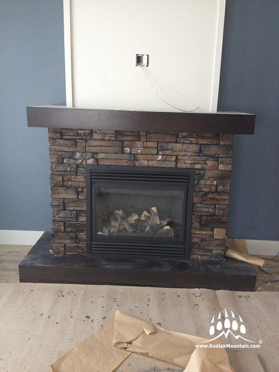 Almond Buff Frontier Ledge Kodiak Mountain Stone 002 Fireplace Sealed Ledges Fireplace Masonry