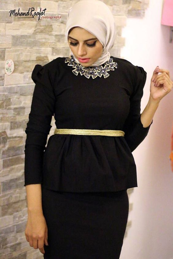 black hijab soiree dress