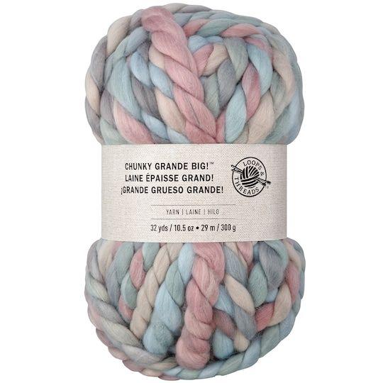 Chunky Grande Big Yarn By Loops Threads Chunky Knit Blanket Diy Super Chunky Yarn Chunky Yarn Blanket