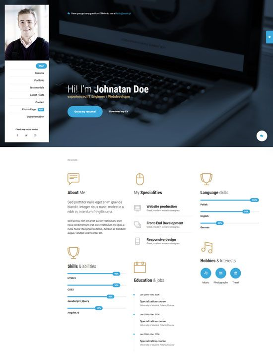 Mi Ultimate Personal Resume Vcard Template Personal Resume Resume Templates