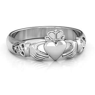 Celtic Knotted Claddagh Ring | Jewlr