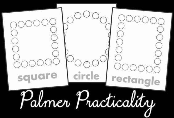 Palmer Practicality: Do a Dot Printables- Shapes has many different shapes including a square circle and rectangle. This is perfect for toddlers during a shapes learning week